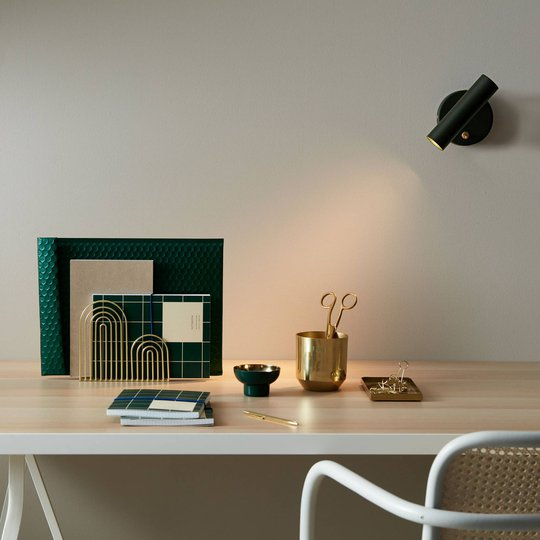 LED-vegglampe Slender, grønn