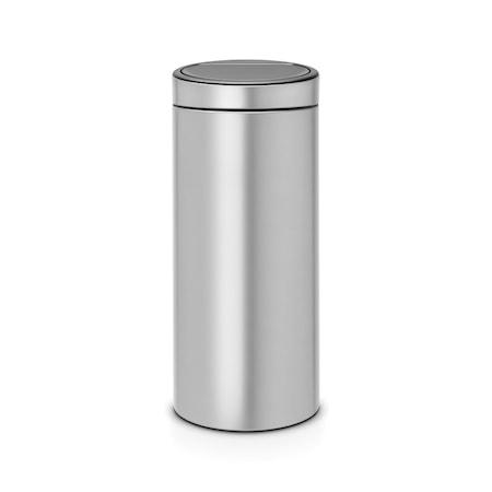 Touch Bin NEW, plastinnerhink 30 L Metallic Grå