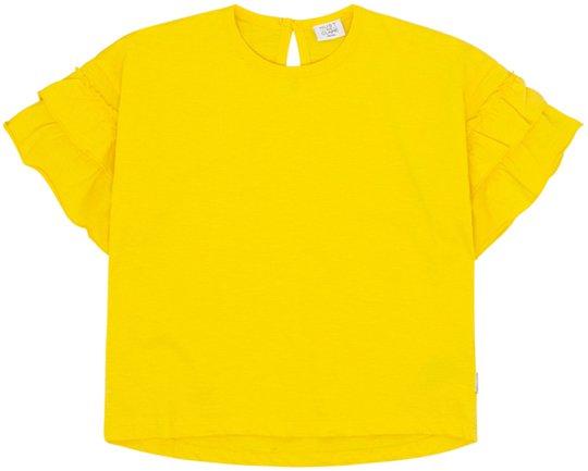 Hust & Claire Adela T-Shirt S/S, Lemon 6 år