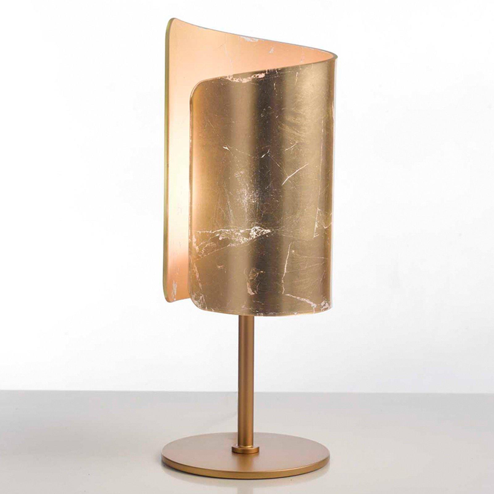 Vakker bordlampe Papiro gull