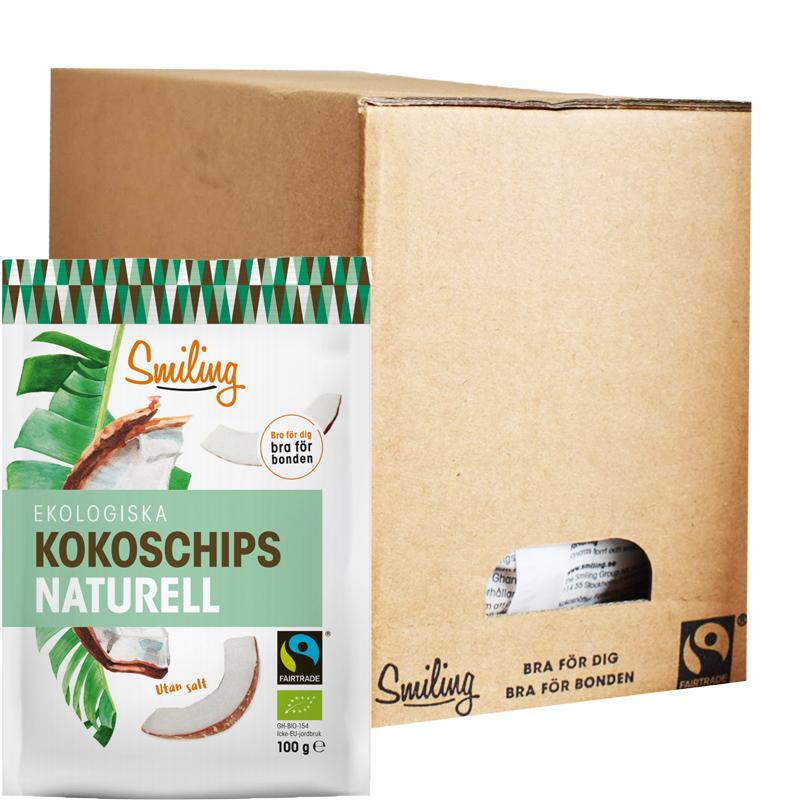Eko Hel Låda Kokoschips Naturell 6 x 100g - 41% rabatt