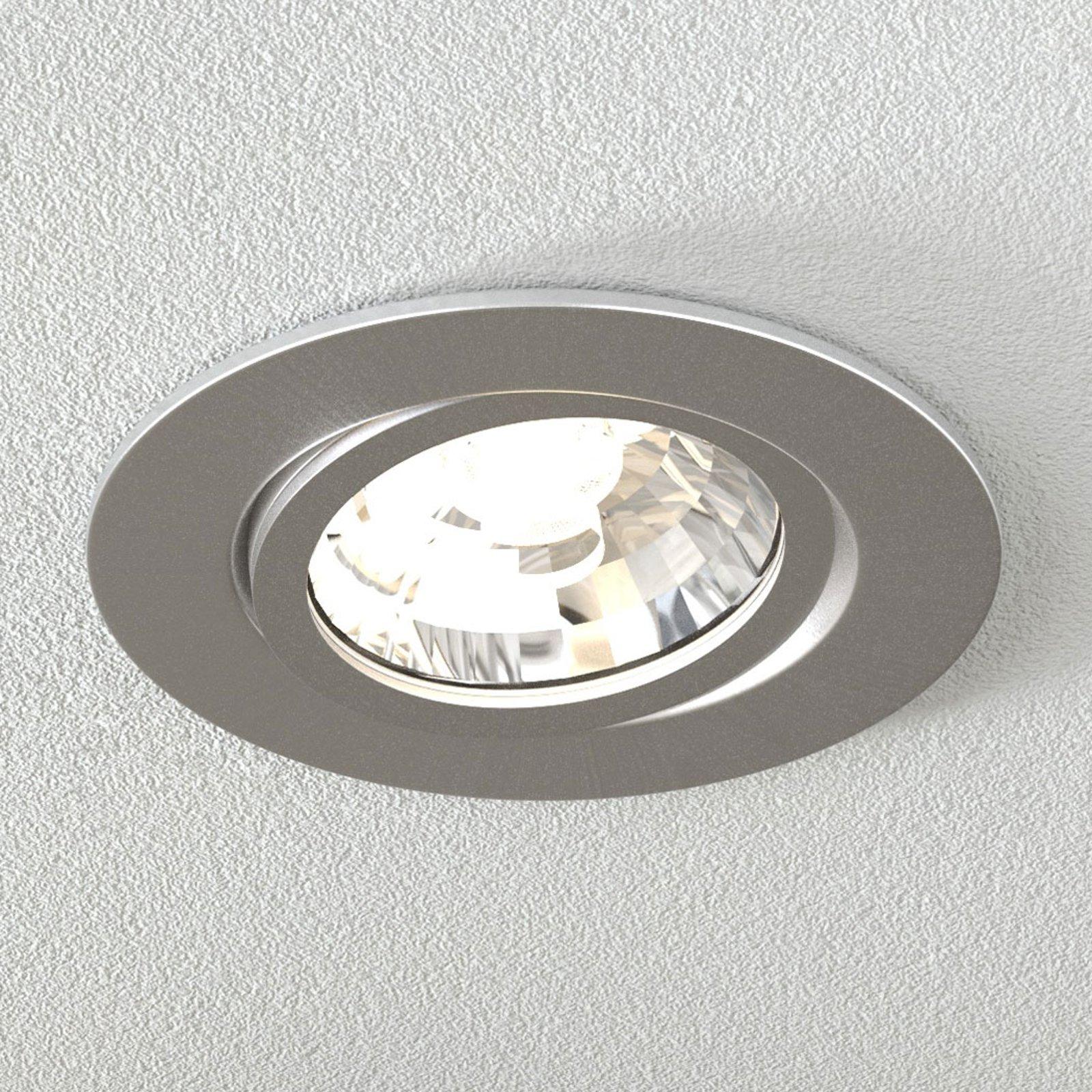 Rico LED innfellingsslampe, 6,5 W, børstet stål