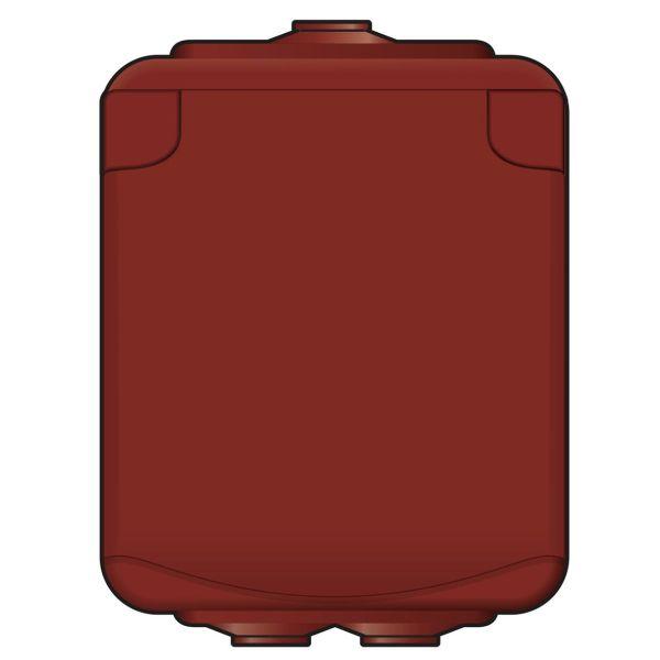 Norwesco 460010 Seinäpistorasia 1-osainen, IP44, punamulta