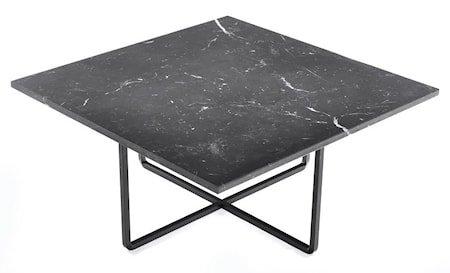 Ninety sofabord - Svart marmor/svartlakkert metallstomme