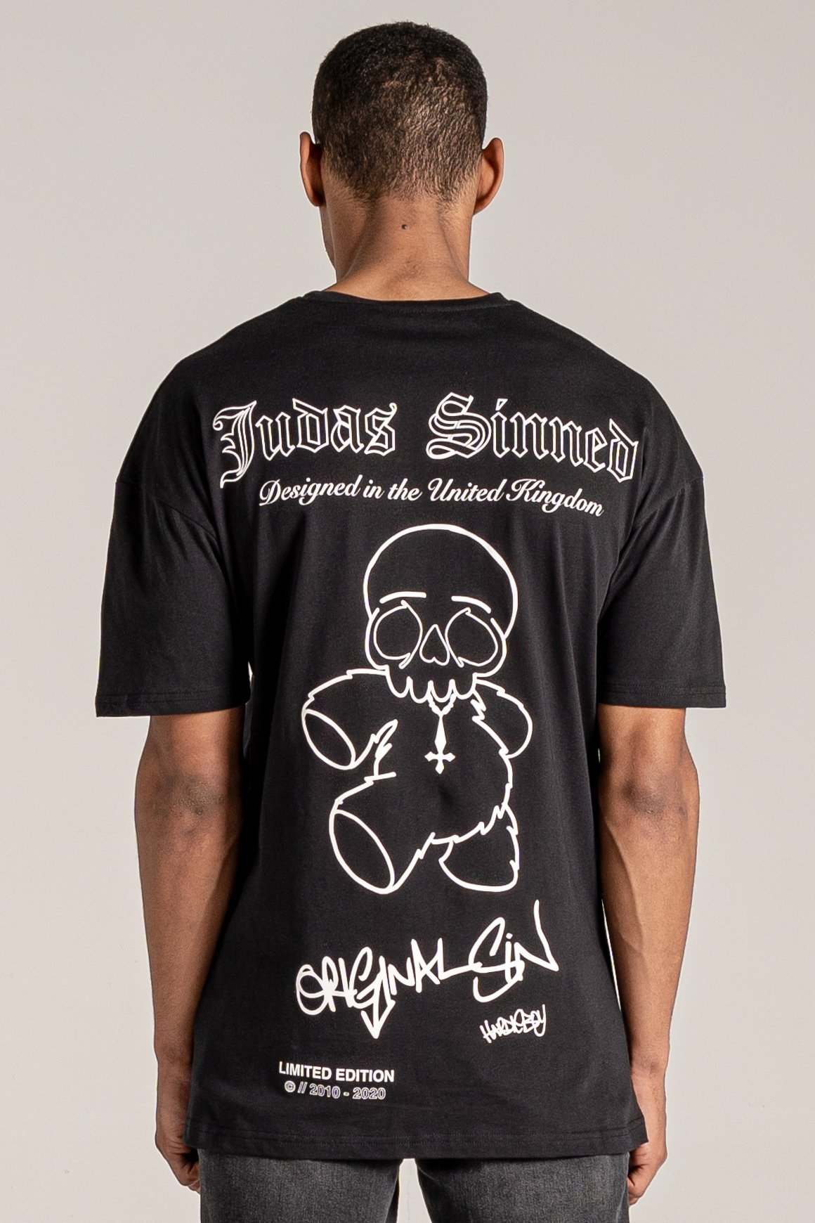 Limited Original Sin Bear Print Men's T-Shirt - Black, Small