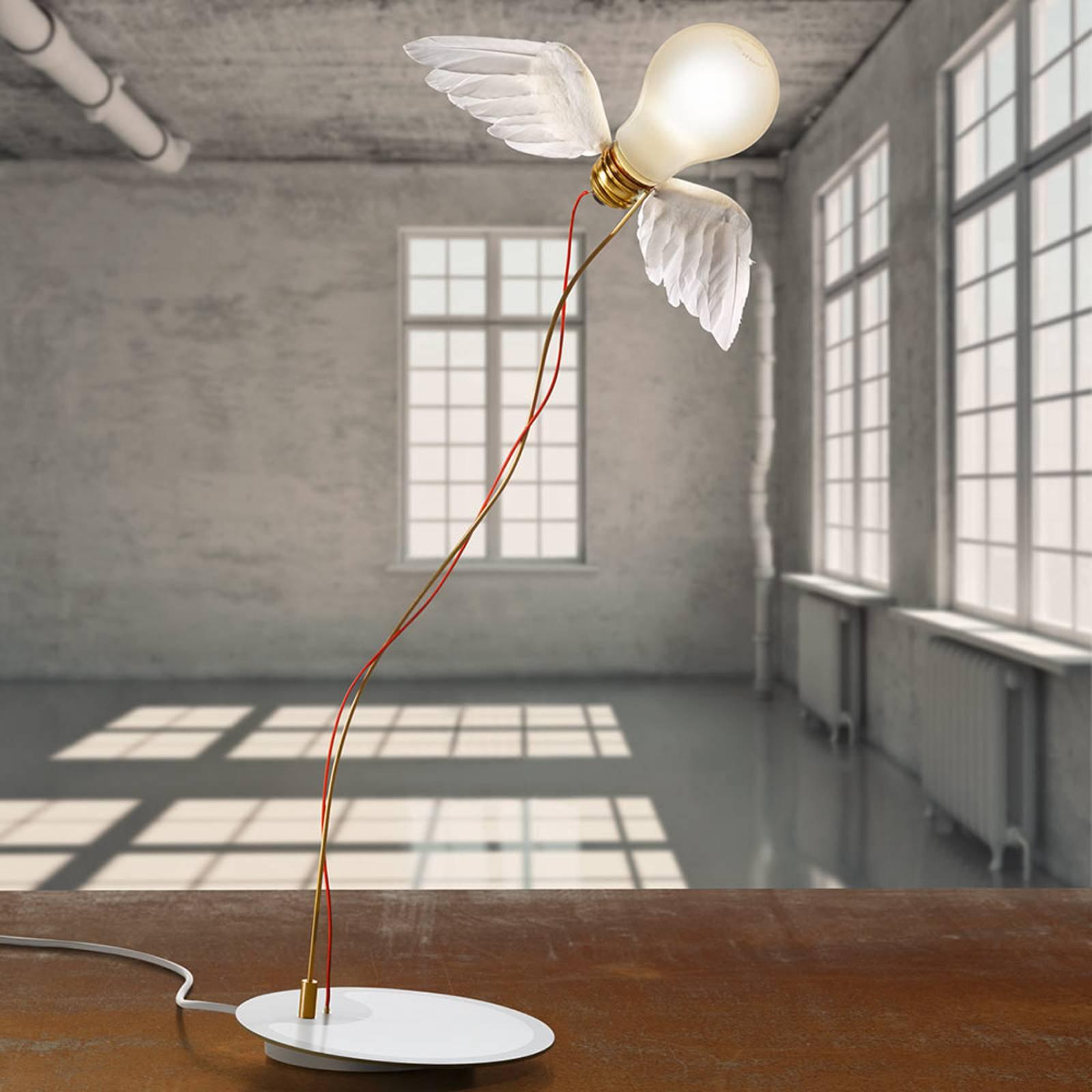 LED-designer-bordlampe Lucellino LED med vinger