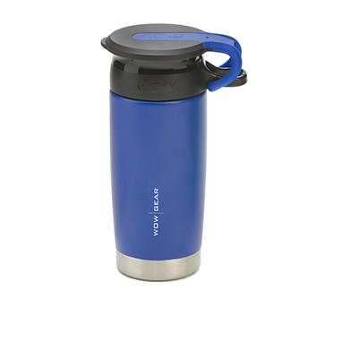 WOW - Double-Walled SS Bottle 400 ml - Blue/Black