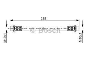Bromsslang, Fram, höger eller vänster, framaxel höger, framaxel vänster