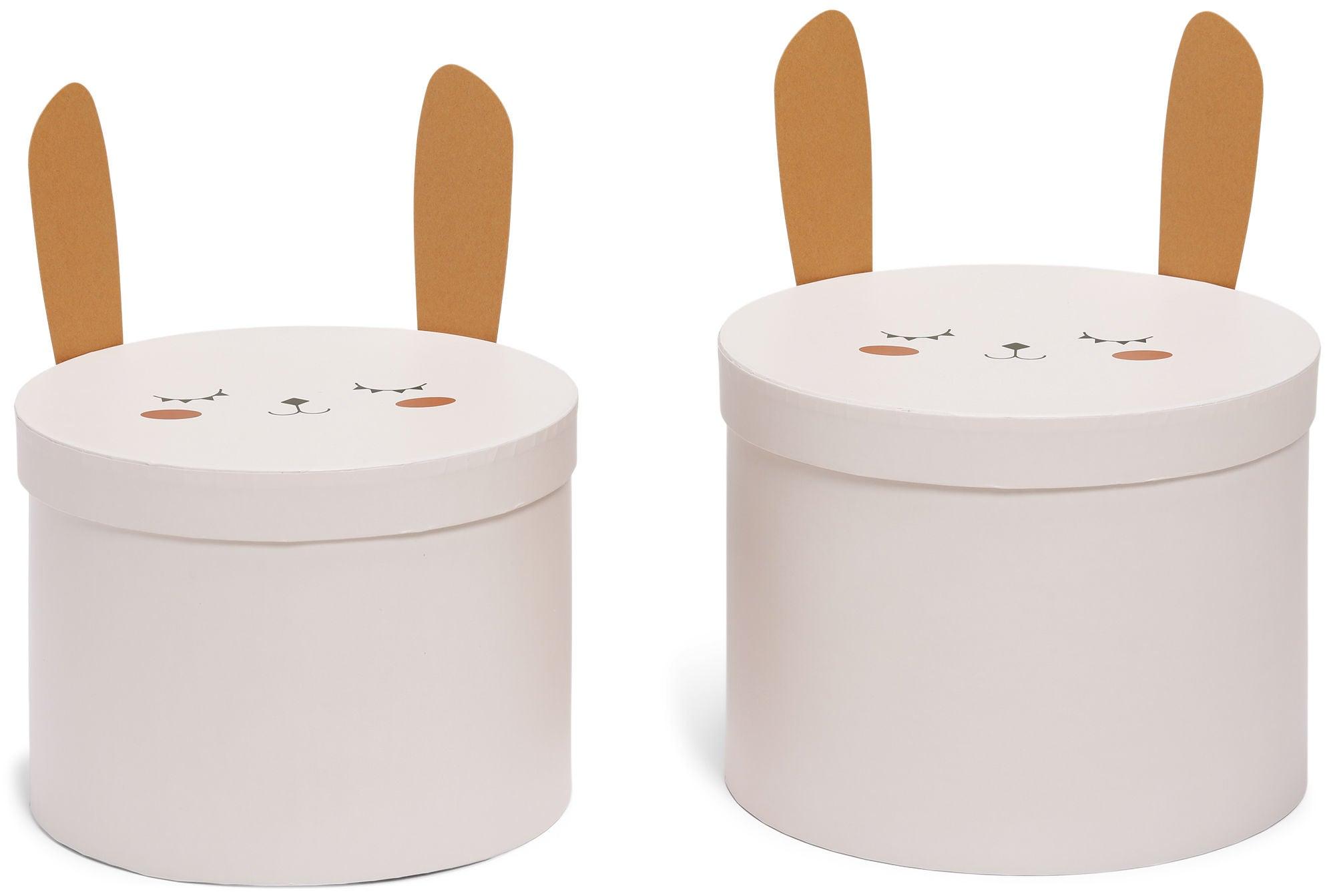 Alice & Fox Säilytyslaatikot 2-Pack Pupu, Vaaleanpunainen