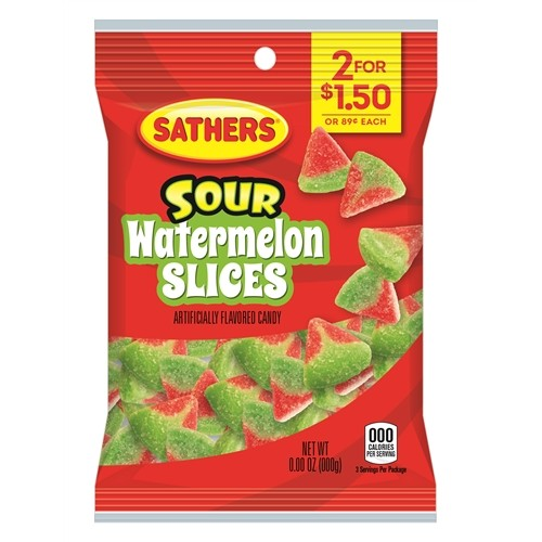 Sathers Sour Watermelon Slices 85g