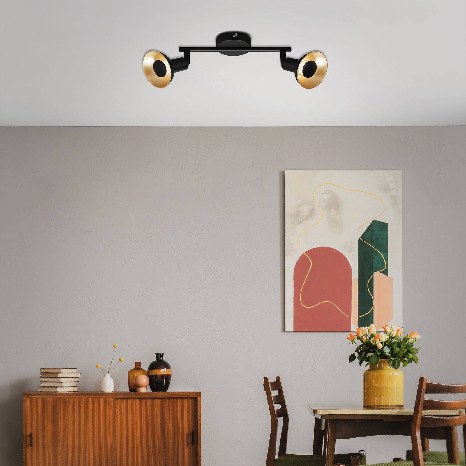LED-taklampe Kukui, 2 lyskilder