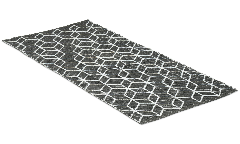 Cube svart - plastteppe