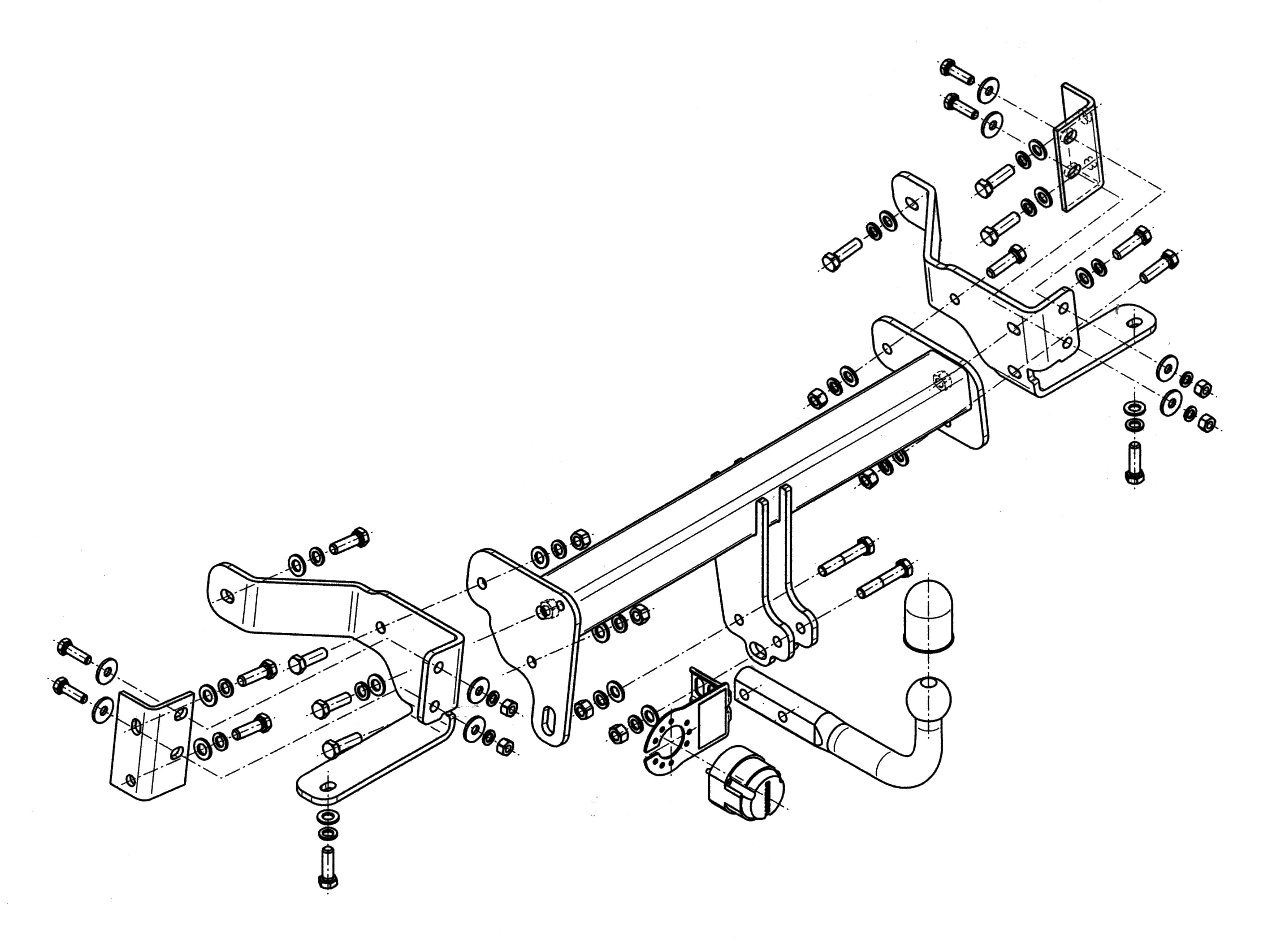 Vetokoukku STEINHOF STO-093 Opel Antara '06-