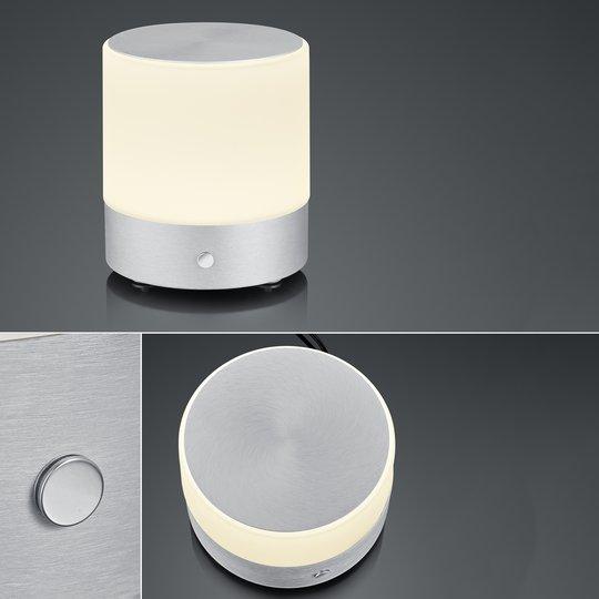 BANKAMP Button LED-bordlampe høyde 18,5cm alu