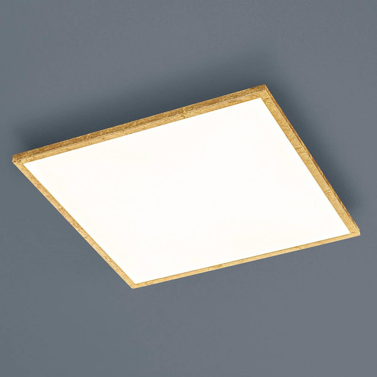 Helestra Rack LED-taklampe, dimbar, kantet, gull