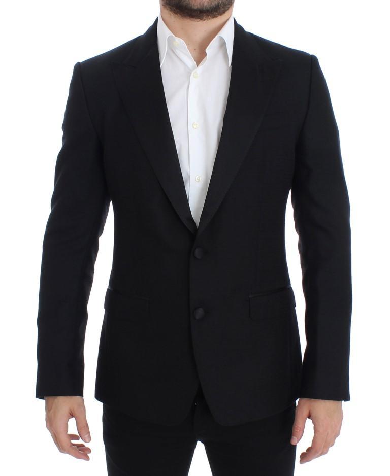 Dolce & Gabbana Men's wool silk SICILIA Blazer Black SIG12301 - IT48 | M