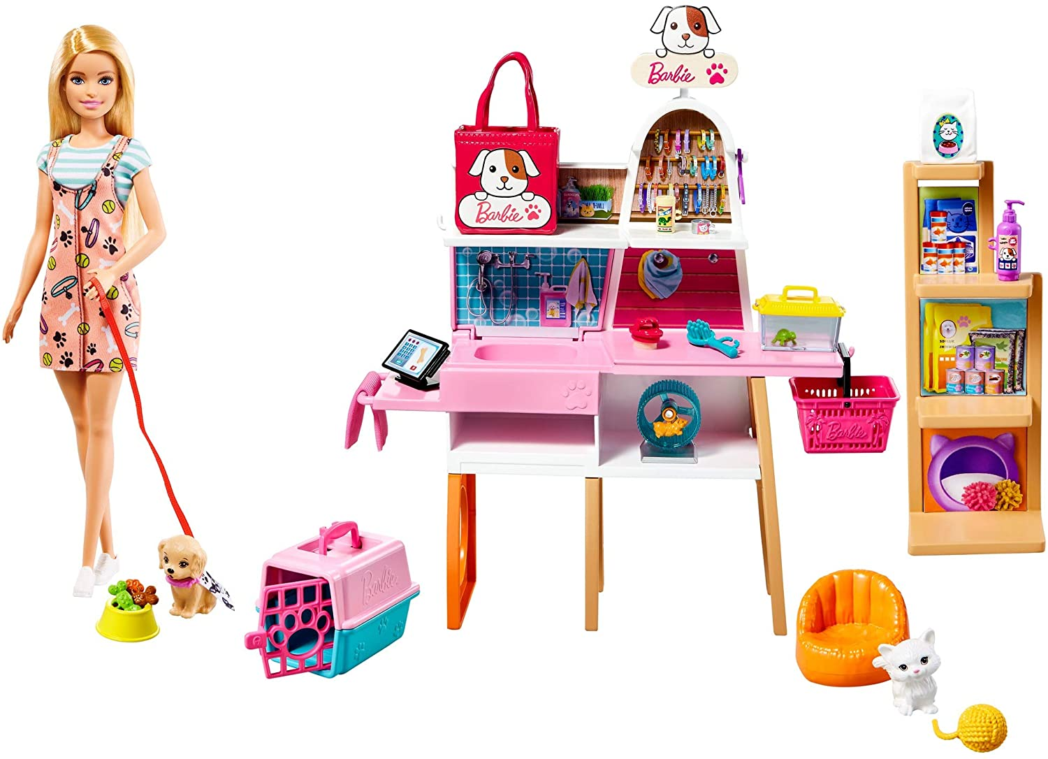 Barbie - Pet Supply Store Doll and Playset (GRG90)