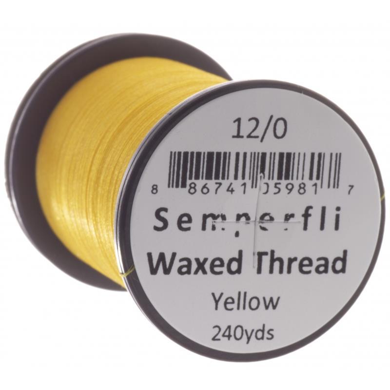 Semperfli Classic Waxed Thread Yellow 12/0