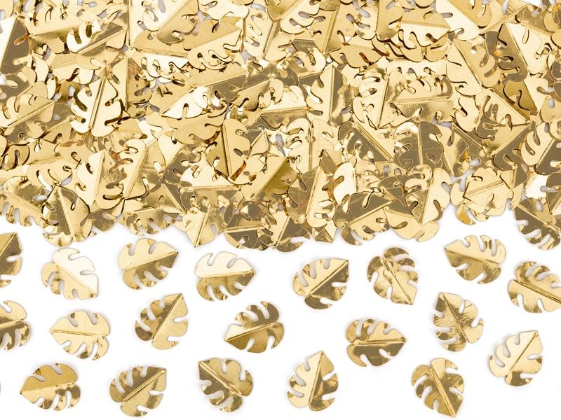 Konfetti guld palmblad