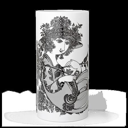 Vase, Olympia, grå, H 24 cm, sylinder