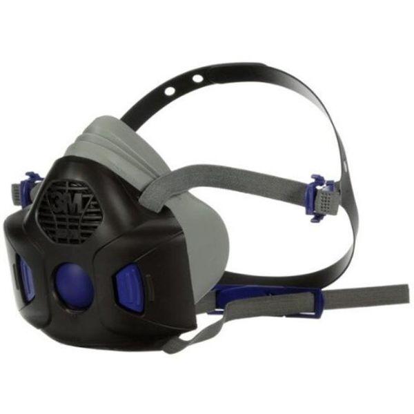 3M Secure Click HF-801SD Puolinaamari puhekalvolla, ilman suodatinta Koko S