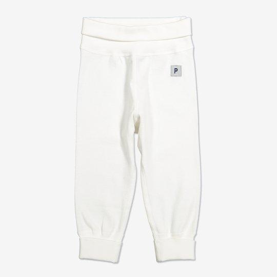 Bukse ensfarget nyfødt hvit