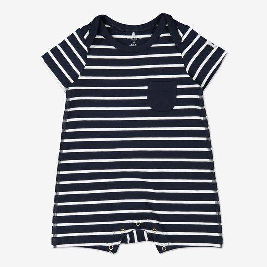Stripet playsuit baby mørkblå