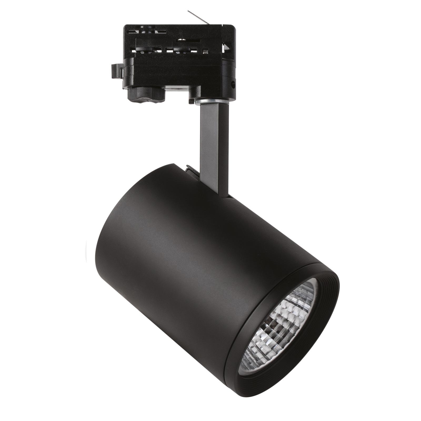 LED-spotti Marco 3-vaihekiskoon, musta 3 000 K