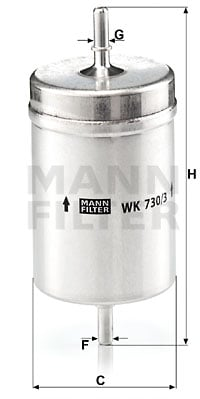 Polttoainesuodatin MANN-FILTER WK 730/3