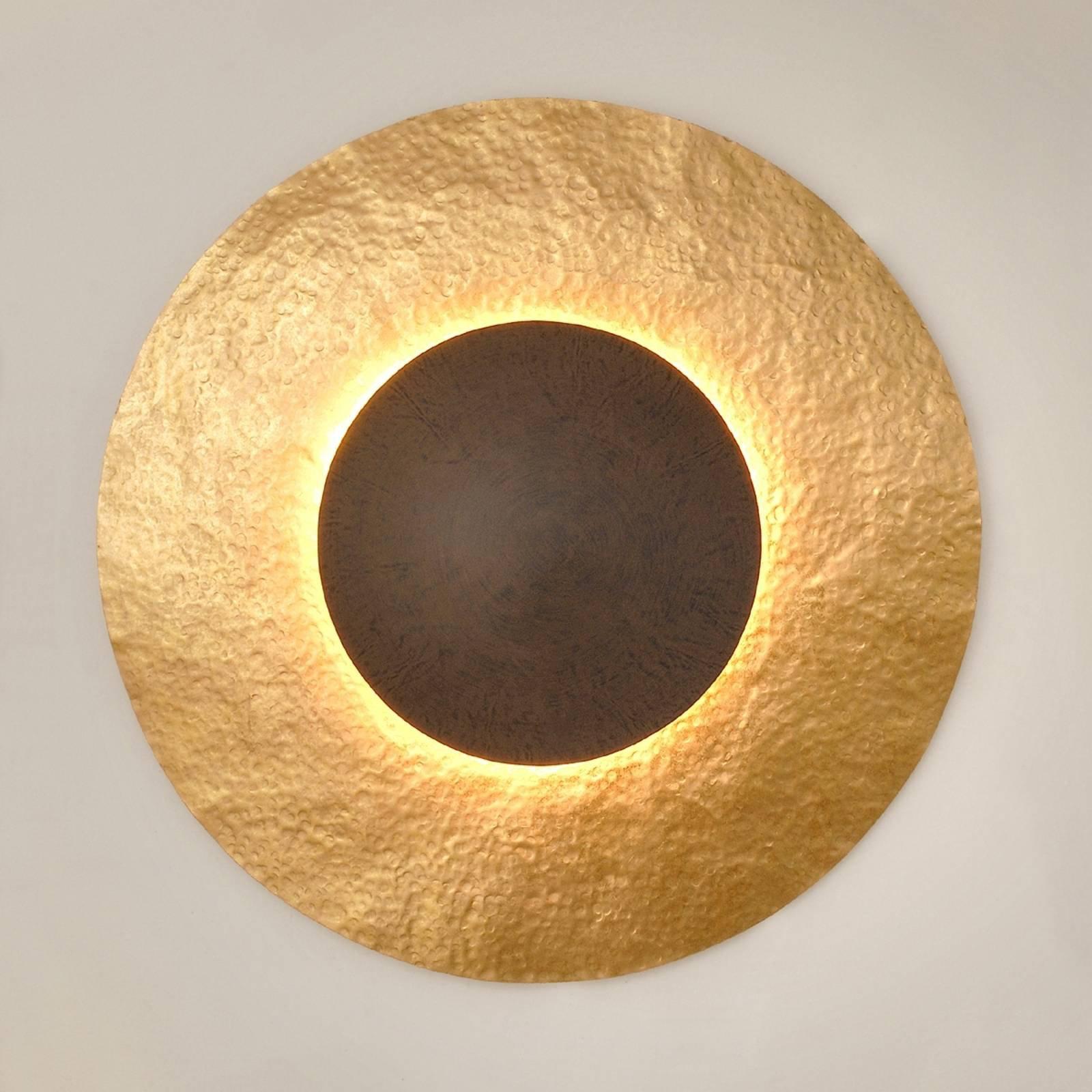 Vegglampe Satellitt 2 i gullbrun, Ø 91 cm