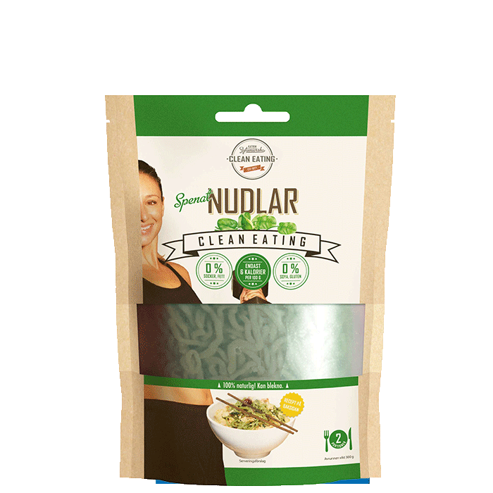 Clean Nudlar Spenat, 300 g