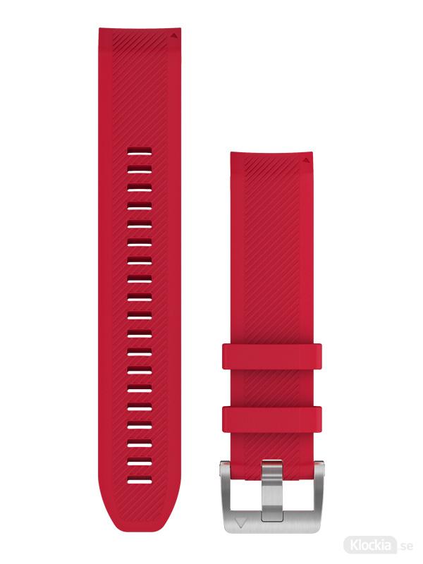 Garmin QuickFit 22mm Klockarmband i plasmarött silikon 010-12738-17