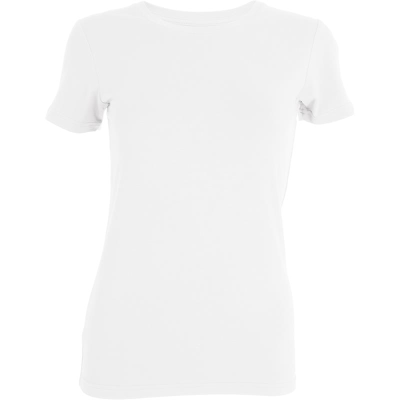 Tufte Crew Neck t-shirt XS Bright White - Dame