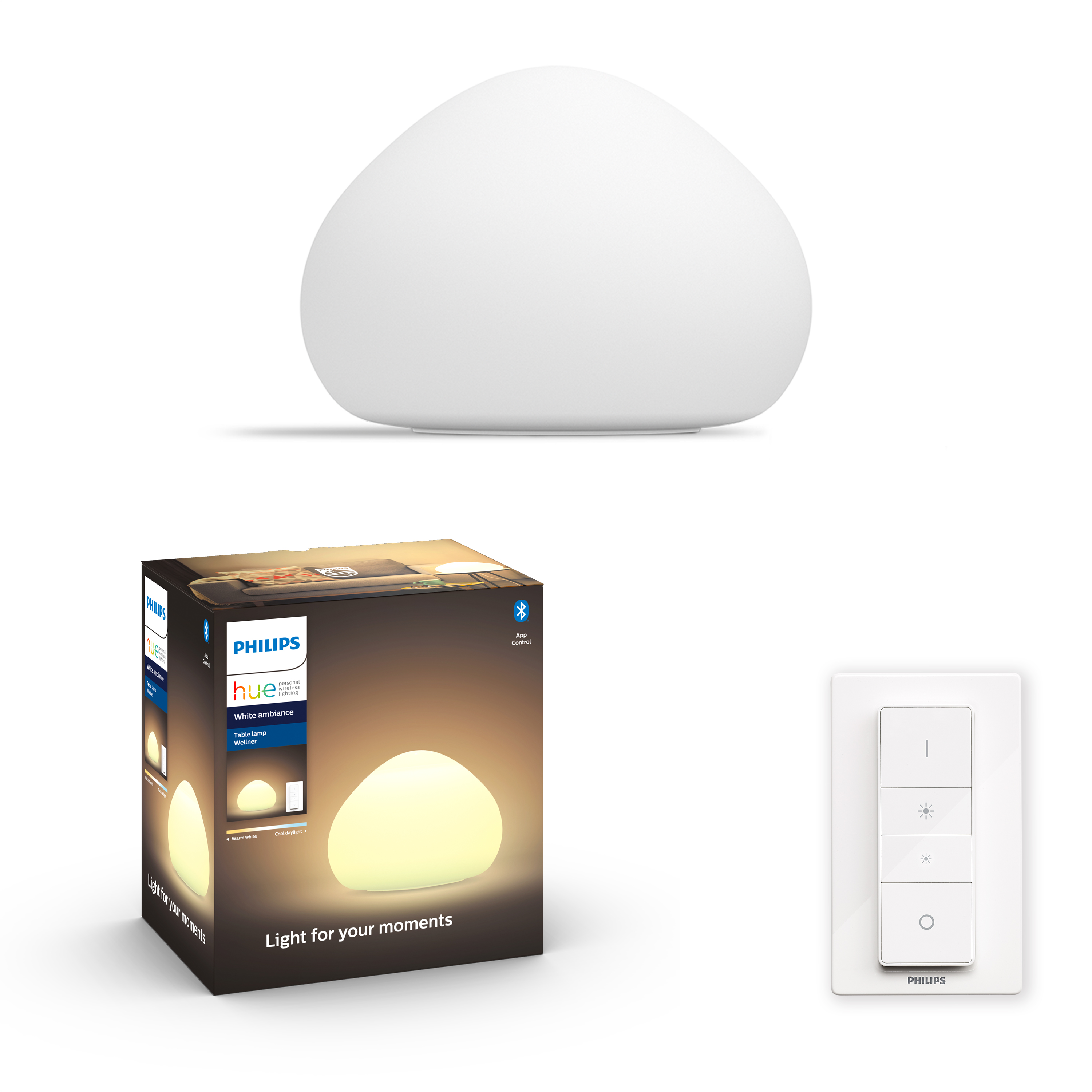 Philips Hue - Wellner Table Lamp White - White Ambiance - Bluetooth