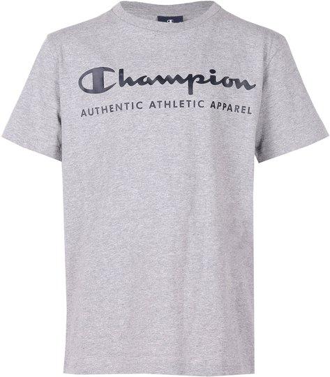 Champion Kids Crewneck T-Shirt, Grey Melange Light XXS