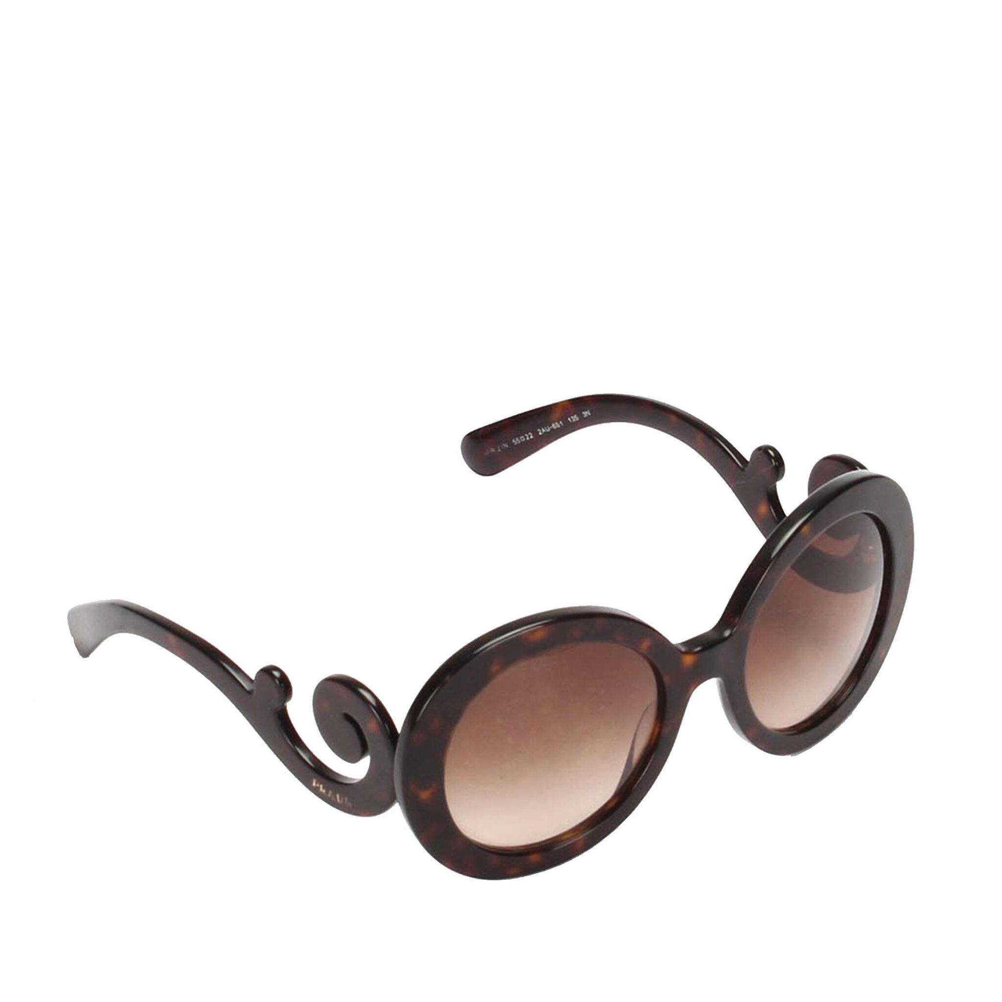 Prada Baroque Round Sunglasses, ONESIZE