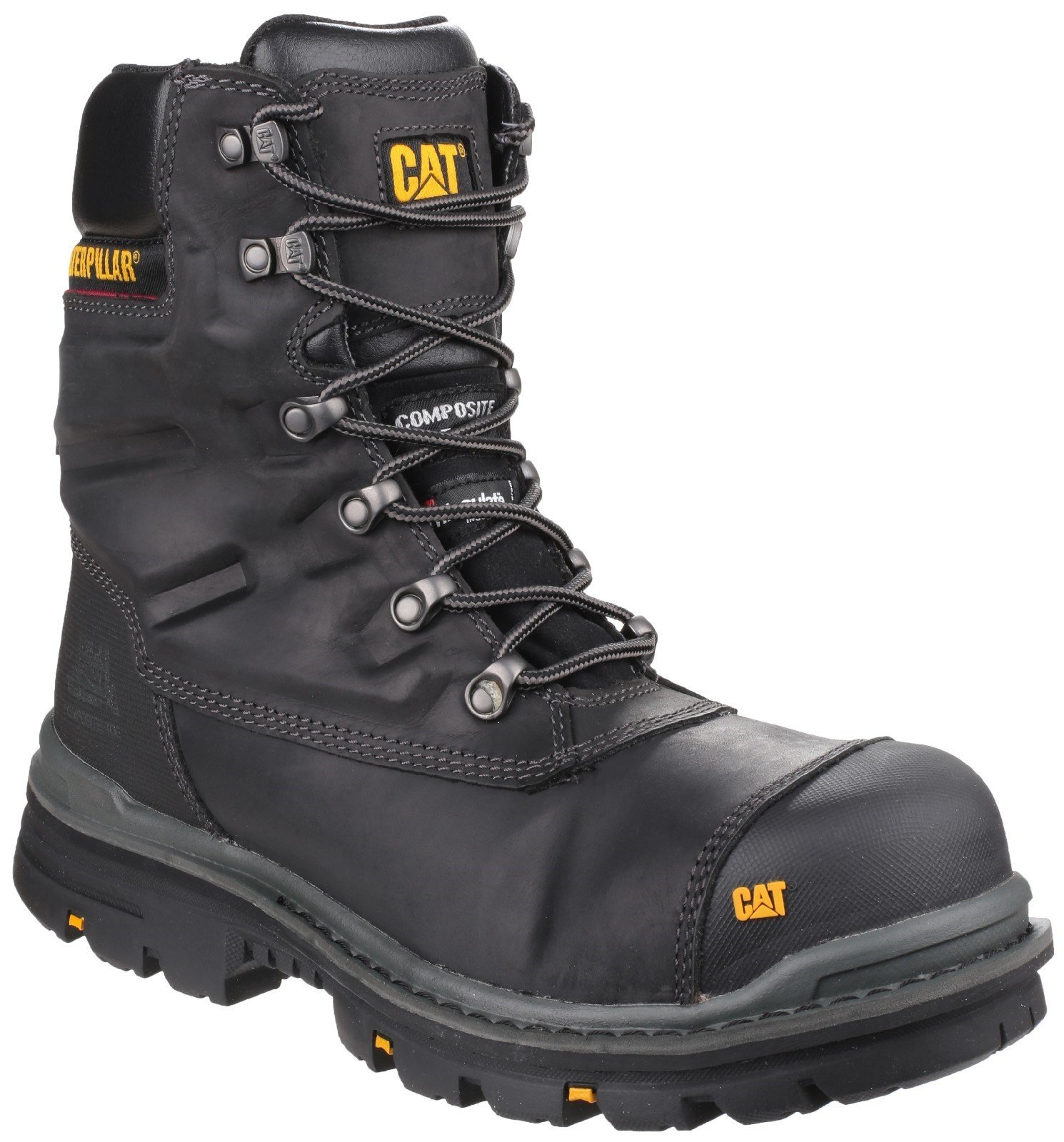 Caterpillar Men's Premier Waterproof Safety Boot Black 24527 - Black 6