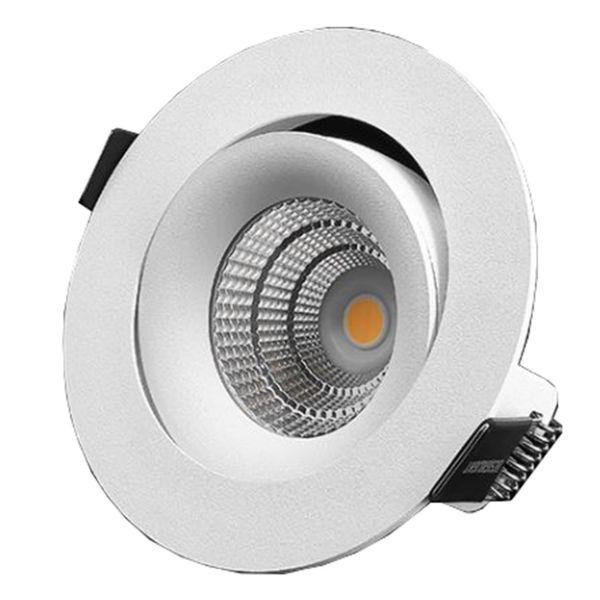 Designlight P-1603527 Downlight-valaisin 7 W, säädettävä, valkoinen 2700 K