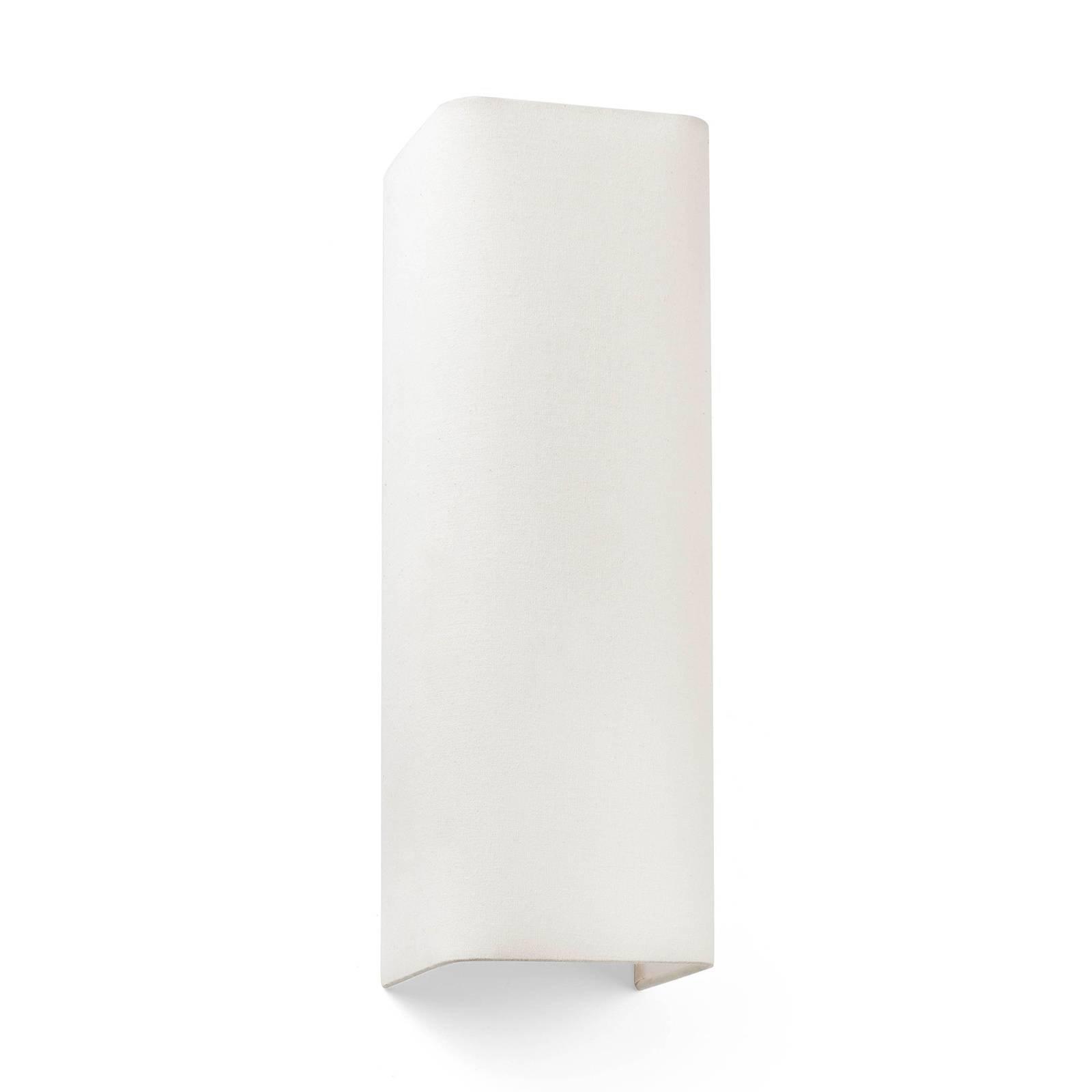 Vegglampe Cotton, kantet, 37 x 12 cm, beige