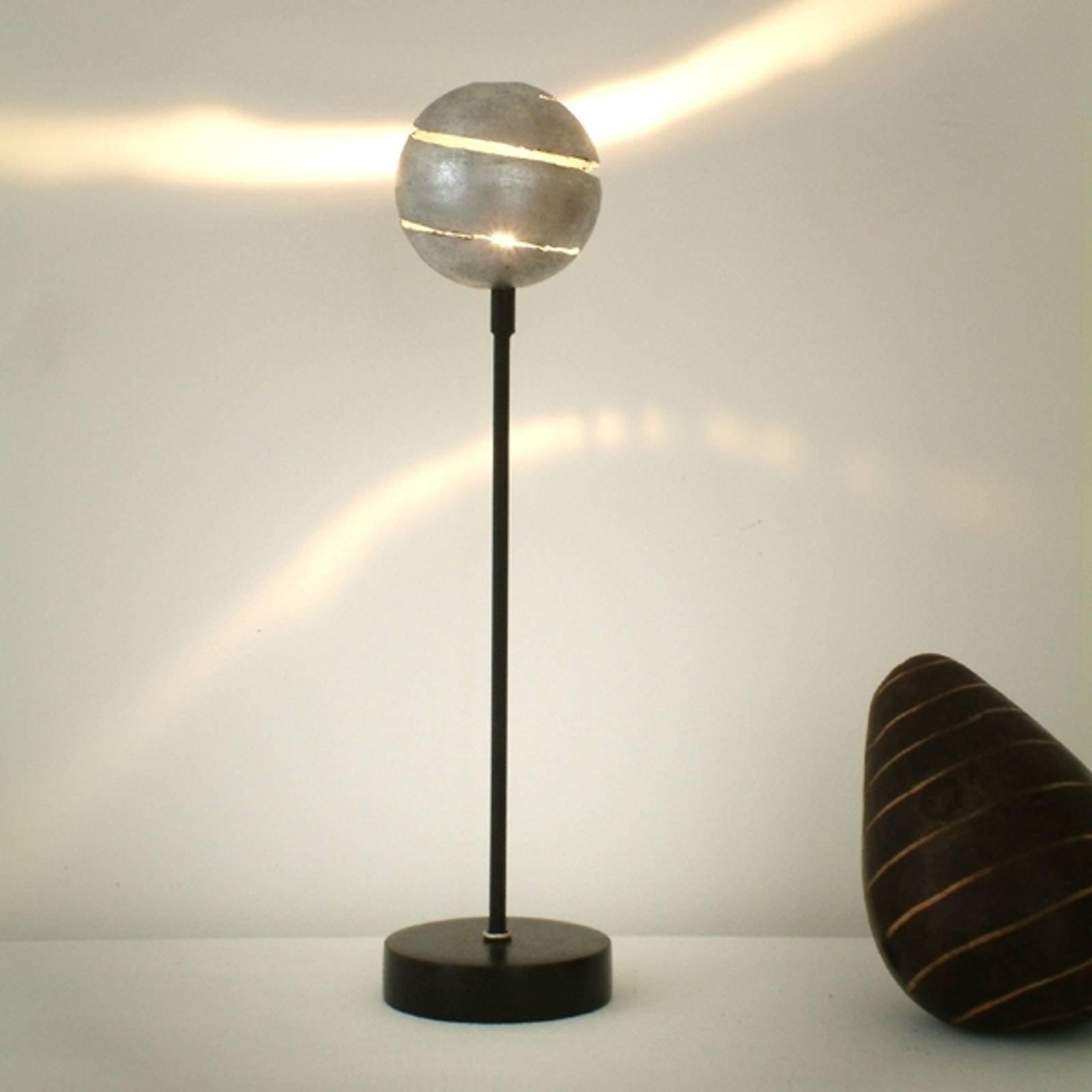 Dekorativ bordlampe KUGELBLITZ SILBER - jern