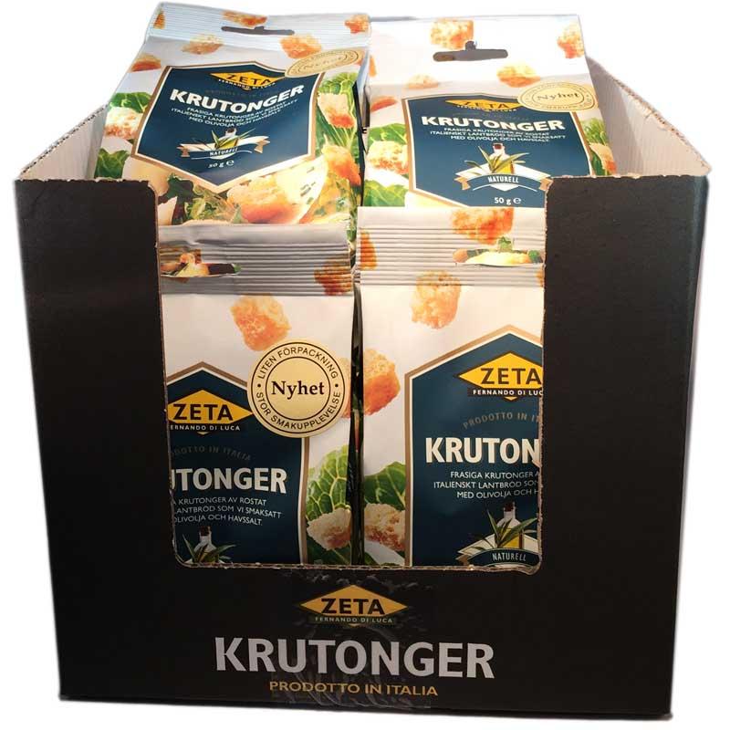 Hel låda- Krutonger naturell - 66% rabatt
