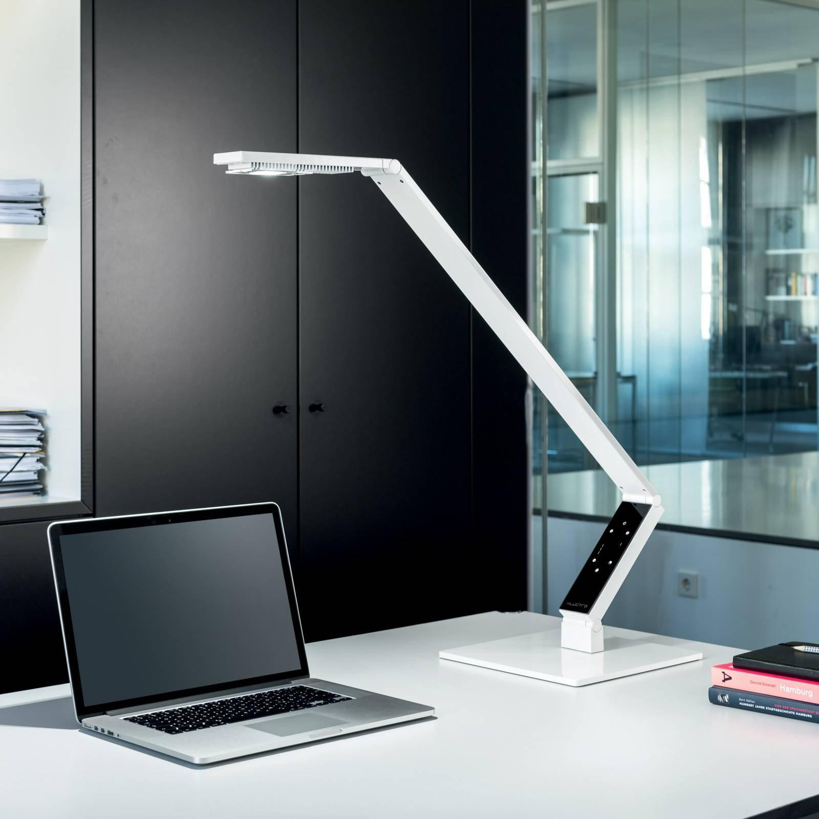 Luctra TableProLinear-LED-bordlampe hvit fot