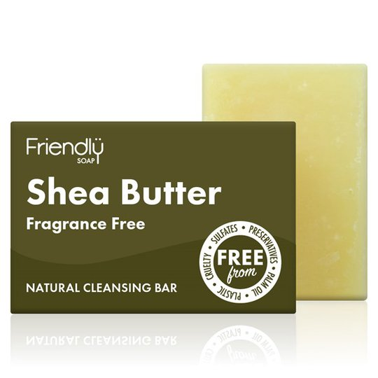 Friendly Soap Shea Butter Facial Cleansing Bar, 95 g