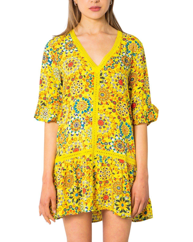 Desigual Women's Dress Various Colours 243271 - yellow S