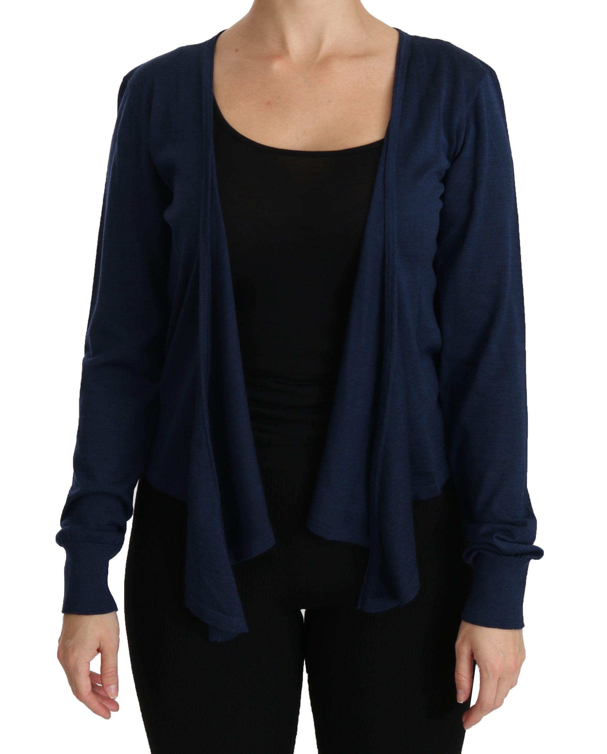 Dolce & Gabbana Women's LS Cashmere Cardigan Blue TSH4253 - IT46 XL