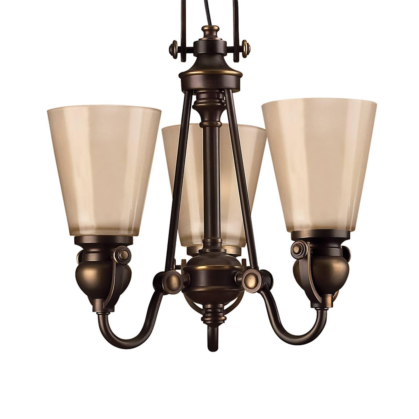 Rustiikkinen MAYFLOWER-riippuvalaisin, 3 lamppua