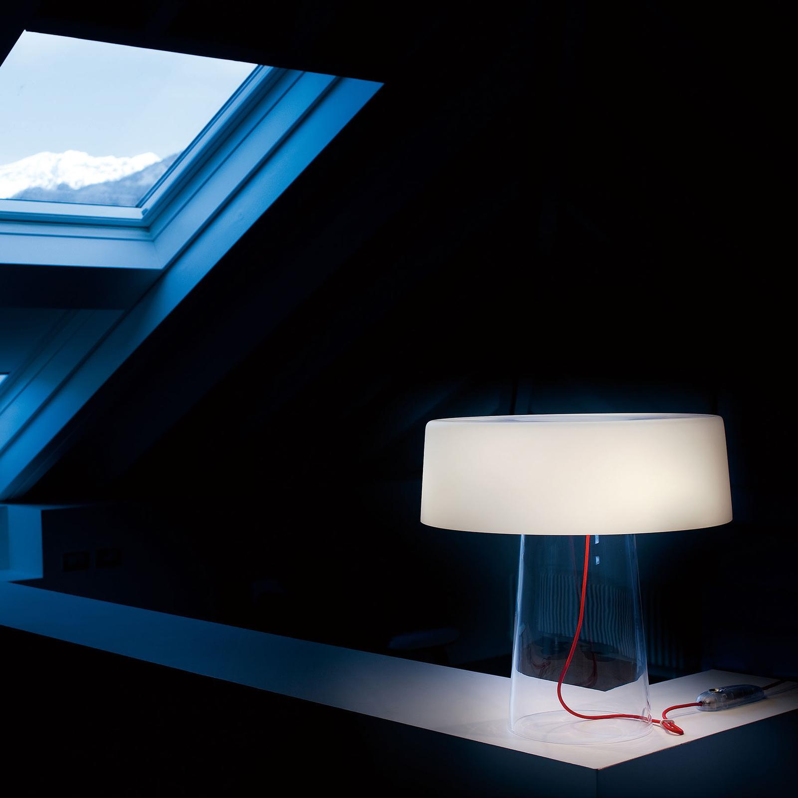 Prandina Glam pöytälamppu 48 cm valkoinen