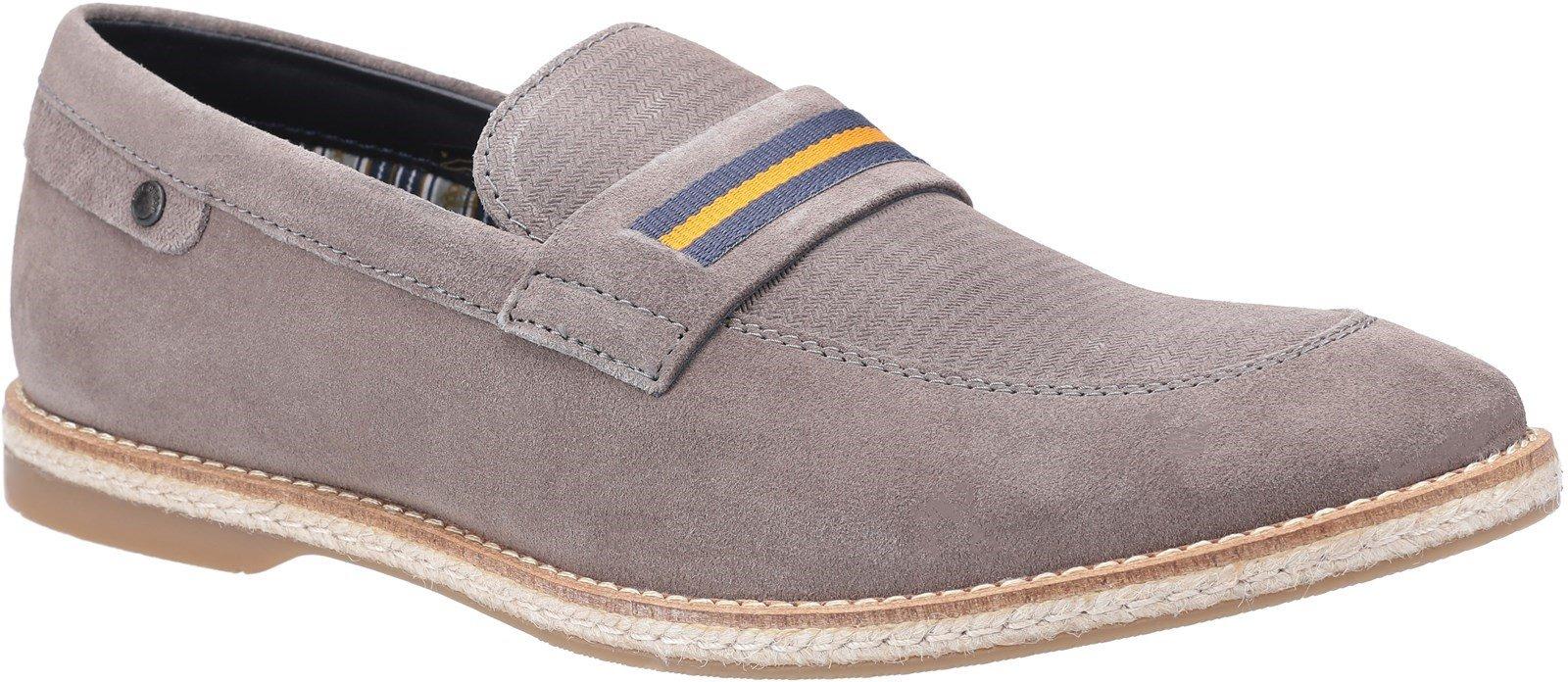 Base London Men's Kinsey Suede Slip On Loafer Various Colours 30444 - Grey 6