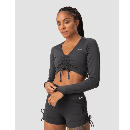 Scrunch Long Sleeve, Anthracite