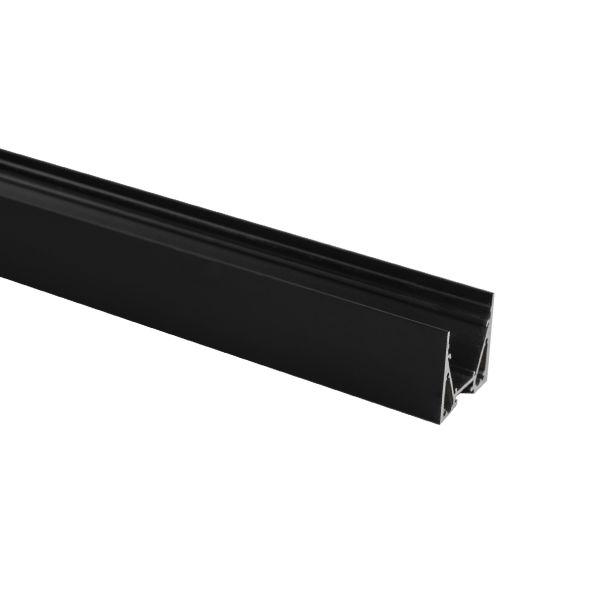 Hide-a-Lite Maxi U Profiili musta, 2 m